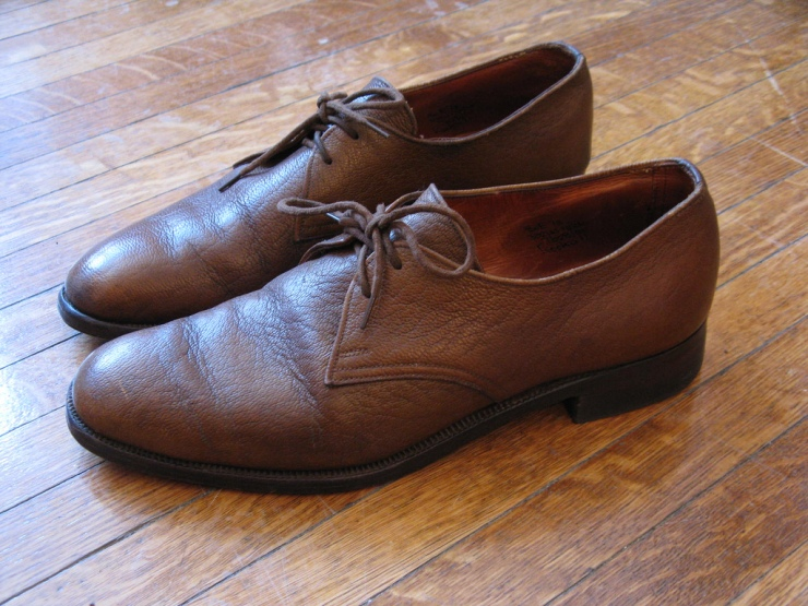 Camel Leather Derby Shoes by Church's