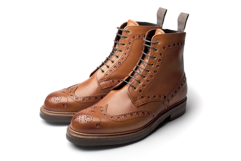 Love In Vain Brogue Boots in Leather by English shoemaker Tim Little