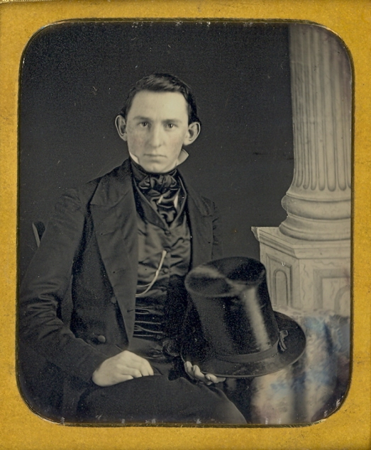 Victorian Gentleman with Silk Top Hat and Waistcoat and Tie