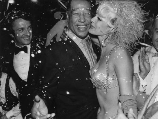 Duke Ellington with an Alcazar Showgirl, Paris 1969