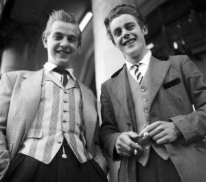 Teddy Boys in Manchester, UK in 1955