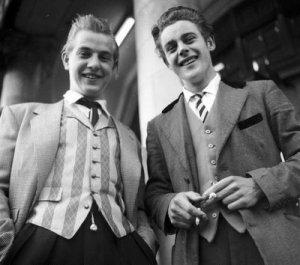 Teddy Boys in Manchester, UK in 1955