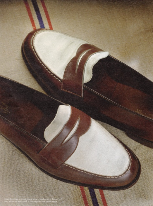 Leather Slip-ons in the Spectator Style