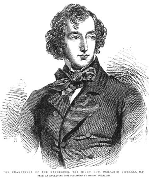 Benjamin Disraeli in a Bow Tie and Looking Dandy