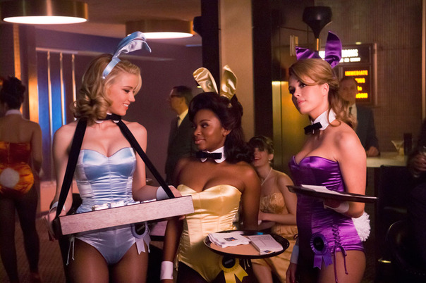 Amber Heard, Naturi Naughton and Leah Renee as Playboy Club Bunny Hostesses