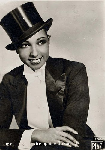 Josephine Baker in White Bow Tie Looking Delicious