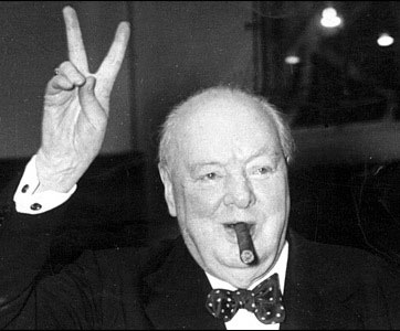 Winston Churchill Beat Hitler (Yes, THAT Hitler) in a Bow Tie