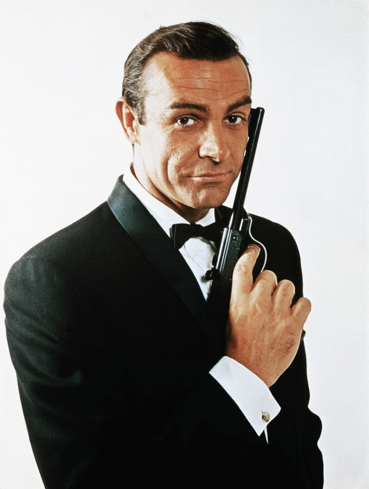 Sean Connery as James Bond - Bow Tie Tied