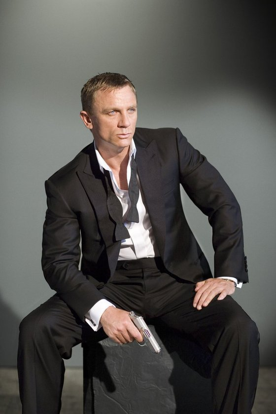Daniel Craig as James Bond - Untied Bow Tie