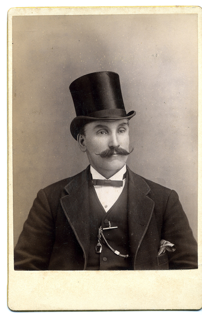 Edwardian Gentleman with Bow Tie and Top Hat