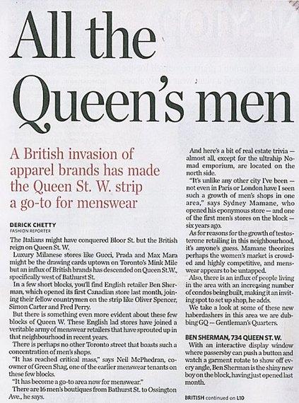 British-styled Menswear in Toronto
