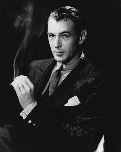 Gary Cooper does suave with a pocket square