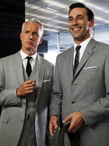 Mad Men Roger and Don are all business with their pocket squares