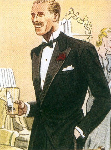 Being fully dressed with a pocket square