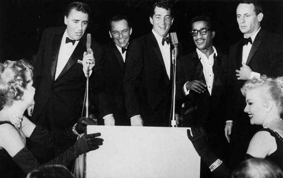 60s Rat Packin Tuxedoes - Peter Lawford, Frank Sinatra, Dean Martin, Sammy Davis, Jr., and Joey Bishop