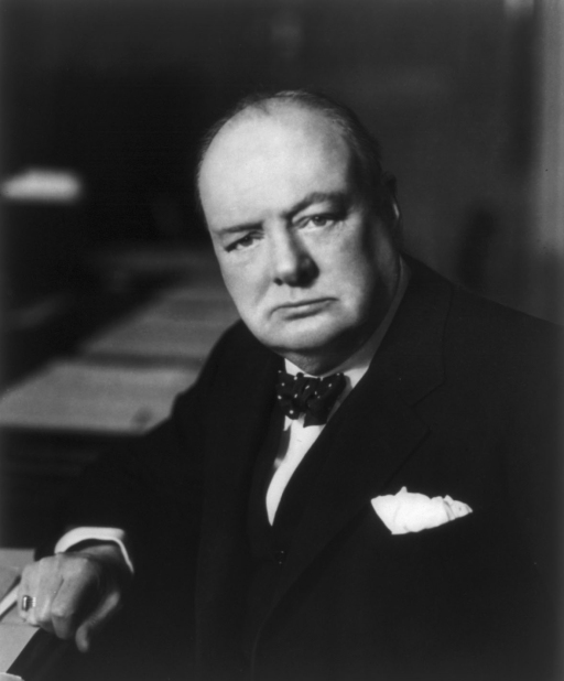 Winston Churchill sets his 'Don't f*ck with me' look with the casual use of a plain pocket square