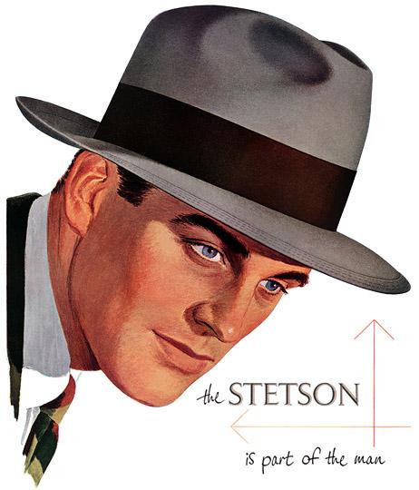 Vintage Stetson Fedora Hat Advertisement