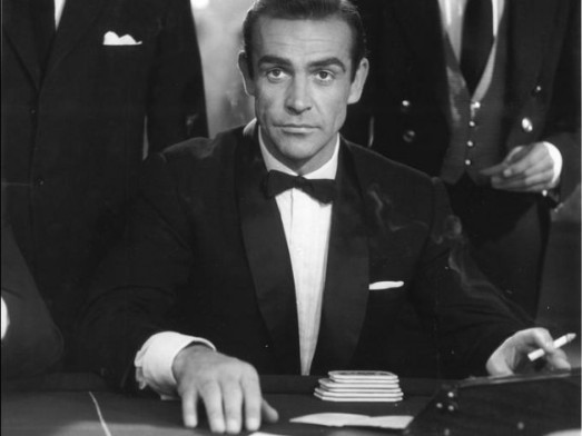 Sean Connery as James Bond in a Dinner Jacket Beating the House
