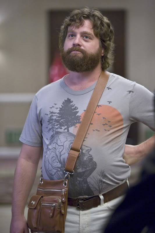 Zach Galifianakis Not Wearing a Jacket and Not Doing Anything