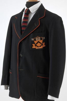 A Brooks Uniform Co. blazer with the 1923 Princeton University insignia