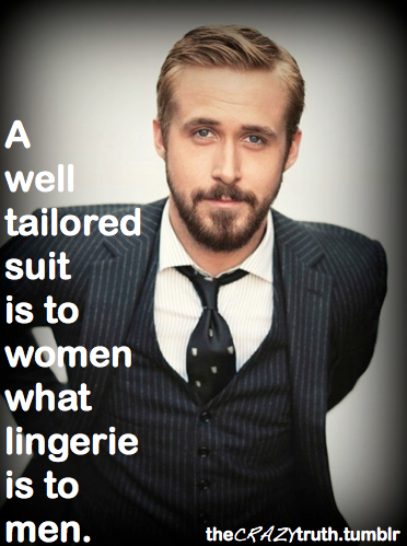 Insight From The Crazy Truth And Ryan Gosling In A Well Tailored Suit Kingpin S Hideaway