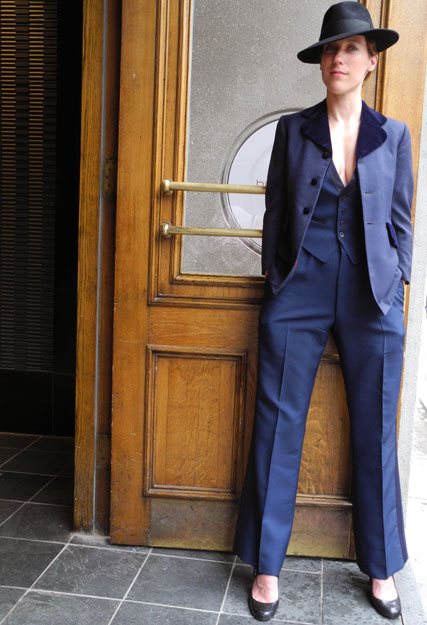 The elegant Lady Welcomes You to Kingpin's Hideaway - The Vintage Gentlemens Haven in Toronto