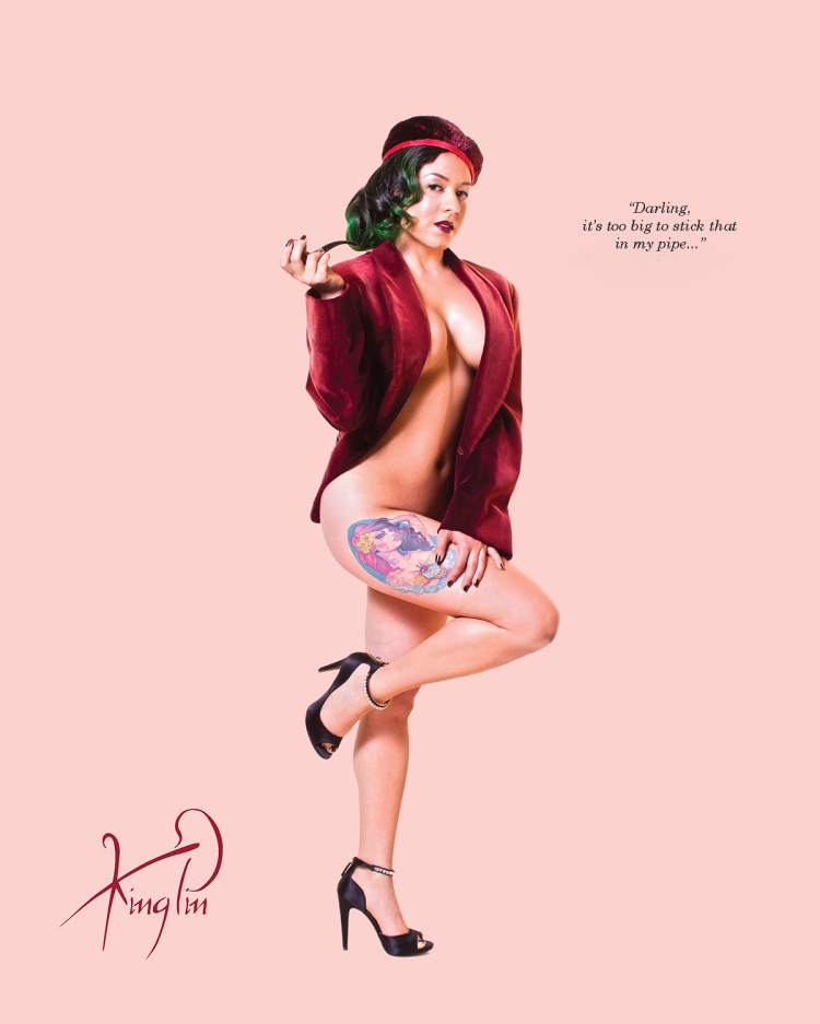 Ms July Ladypin Pin Up for Kingpin's Hideaway